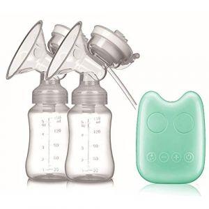 Améliorer Tire-lait électrique Double, Silencieux Pompe d'allaitement Sans BPA,Green (SMS ShangHang, neuf)