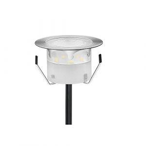 Lampe de Spot LED pour Terrasse Enterré Plafonnier, IP67 Acier inoxydable DC 12V 1W Lumière Eclairage Encastré Exterieur pour Chemin Jardin Contremarches d'escalier Piscine, Blanc Froid (CHENXU, neuf)