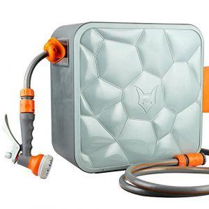 Fuxtec Dévidoir Enrouleur Automatique 20 m FX-CU20 Connexion ½ Pouce – Enrouleur de Tuyau avec Montage Mural (FUXTEC, neuf)