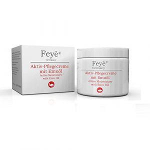 Feyè® Crème Active, Crème Hydratante, Pommade - pour le psoriasis, l'eczéma et la peau très sèche - soins intensifs pour la rougeur, les démangeaisons et l'inflammation - avec de l'huile d'émeu (Feyè Cosmetics Germany, neuf)