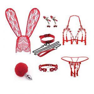 Novetly Bunny Hairhoop & Tail Ànâl Bûtt Pl'ugs Set pour Costume Femme Cosplay (Jin Yulong, neuf)