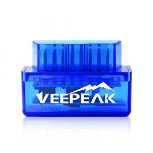 Veepeak Mini Scanner Diagnostic Automobile Bluetooth OBD2OBDII EOBD à Lecteur de Code-Barre Android Windows (New Hoping-Land Store, neuf)