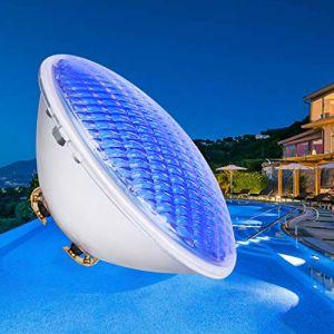 COOLWEST Éclairage de Piscine LED, 36W Bleue lumière sous-Marine Éclairage d'étang Étanche IP68, Projecteur de Piscine Extérieure AC/DC 12V sous l'eau pour Éclairage de Jardin de Piscine d'aquarium (COOLWEST-FR, neuf)