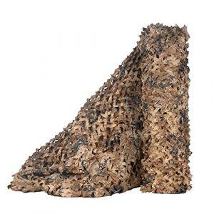 LOOGU Filet de Camouflage Militaire Grande Taille Parfaits pour Chasse, Ombrage,Camouflage Décoration,Parasol,Terrasse Protection Solaire Desert Digital 1.5x3m (LOOGU Hunting Gear Shop, neuf)