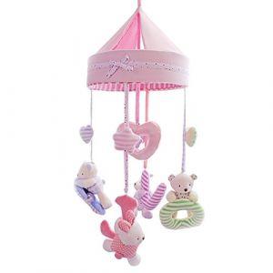 SHILOH Deluxe peluche pour bébé Berceau mobile avec 60 chansons Boîte à musique et arm (Pink Love) (BEIJING AIHEWEIXI TRADING CO., LTD, neuf)