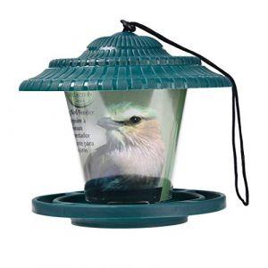 Lanterne Suspendue Mangeoire À Oiseaux Mangeoires À Graines De Jardin Abris De Pluie Résistant Aux intempéries pour Extérieur à Suspendre à Un Arbre Waterproof en Plastique Serria (Serria, neuf)