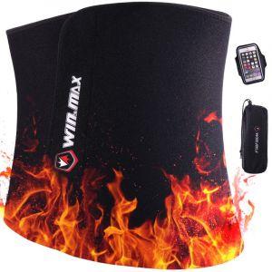 Win.max Ceinture Abdominale, Ceinture de Sudation pour Homme et Femme, Ceinture de Sudation Abdominale en Néoprène,Soutien du Dos (Noir, L) (LiuLianSheng, neuf)