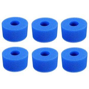 Poweka Éponge en Mousse de Rechange pour Filtre de Piscine pour Intex Type S1, Filtre à Cartouche en éponge réutilisable et Lavable pour Spa Jacuzzi Spa (6 pièces) (Parts Ins, neuf)