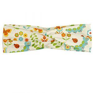 ABAKUHAUS Abakuus Foulard bandana en forme de chenille avec fleurs et coccinelles Multicolore (Abakuhaus, neuf)