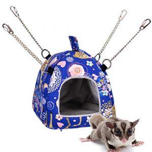 Rat Hamster Maison Lit Hamac Suspendu Jouet Hut Hiver Chaud Petit Animal Écureuil Hérisson Chinchilla Maison Cage Nid (Movospeed, neuf)