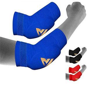 RDX Boxe Soutien Coude MMA Coudière Tendinite Musculation Protection Sport Kontact (RDXINC LTD, neuf)