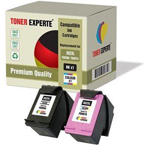 Pack 2 XL TONER EXPERTE® Cartouches d'encre compatibles pour HP 302XL Officejet 3830 3831 3832 3834 4650 4654 4655 4658 DeskJet 1110 2130 2132 2134 3630 3632 3633 3634 Envy 4520 4522 4523 4524 4527 (Toner Experte, neuf)