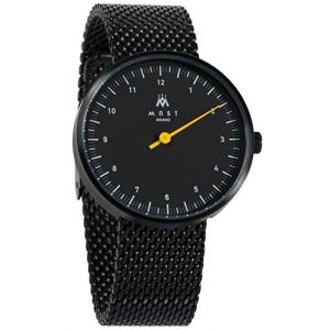 MAST MILANO BK106BK01-SS-UNO - Montre pour Homme Mono Aiguille Ultra Plate (Watch Your Watch, neuf)