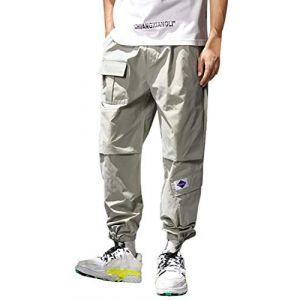 ORANDESIGNE Homme Pantalon Casual Cargo Chino, Sport Jogging Pantalon Slim Fit De Homme Pantalon Jogging Bas De Survêtement Sweat Pants Running Casual Pants Trouser G Vert S (HSCS Group Inc., neuf)