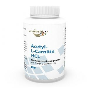 Vita World Acetyl L-carnitine 1000mg 120 Capsules doses très élevées haute biodisponibilité Made in Germany acétyl-carnitine (Naturheilpraxisbedarf, neuf)