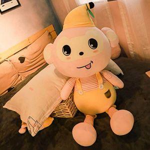 Peluche jouet mignon petit singe chiffon poupée oreiller de couchage lit poupée cadeau d'anniversaire -2_85 cm (lizhaowei531045832, neuf)