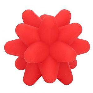 Balle de Massage, Dekiam 2 couleurs Acupoint boule de Massage à libération musculaire masseur Silicone Fitness Massage balle(rouge) (Solomi, neuf)
