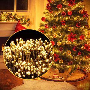 Ulinek 2000 LED Guirlande Lumineuse 50M, Décoration Noël Lumière Extérieur Intérieur 8 Mode Éclairage/Basse Tension,Guirlande Lumiere Sapin Arbre Anniversaire Mariage Jardin Maison (Blanc Chaud) (Weiyizhixiang EU, neuf)