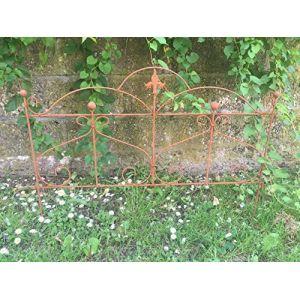 Beet Clôture Clôture de jardin Tuteur Métal Fer Rouille Décoration 46cm de haut x 60cm de long (ecosoul, neuf)