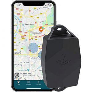 TRAKmy Traceur GPS Ultra - sans Carte SIM - Voiture Bateau Remorque Camping Car - Autonomie 5 Ans - Aucun Câblage - Etanche - Possibilité Remplacer Batteries - Abonnement Inclus - 200g - 130x72x36mm (TRAKmy, neuf)