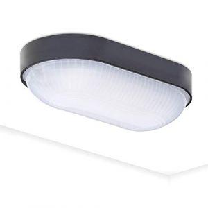 Hublot étanche Base Oval Applique murale mini plafonnier oval LED IP65 | 4000K Blanc neutre | 800 Lm | 9Watt (ETAPLEX GmbH, neuf)