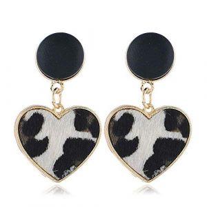 boucle d'oreille léopard en forme de coeur boucles d'oreilles femmes 's fine boucles d'oreilles suspendus amour boucles d'oreilles bijoux femme cadeau (Xianmin, neuf)