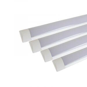 Réglette lumineuse LED 90cm 24W (Pack de 4) - Blanc Froid 6000K - 8000K (SILAMP FR, neuf)