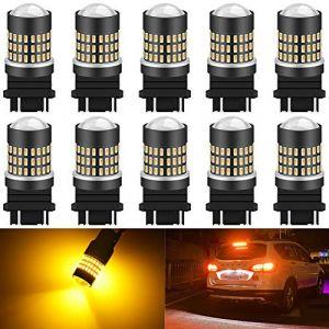 KATUR 3157 3047 3057 3155 3156 Ampoule LED 900 lumens 3014 Ampoule 78SMD pour Ampoule de Clignotant pour feu Stop Stop Clignotant, Orange (Paquet de 10) (KAtur, neuf)