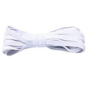 dljztrade Corde De Bande élastique De 33 Mètres Pour La Couture De Bracelet De Collier De Cahier De Bricolage blanc (dljztrade, neuf)