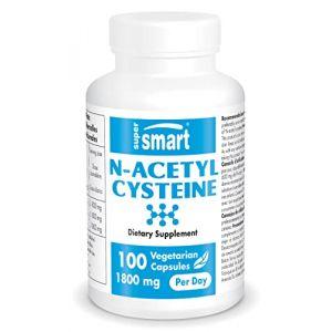 Supersmart - Acides aminés, antiOxydants - N-Acetyl Cysteine 600 mg - 100 Gélules Végétales (Supersmart SA, neuf)