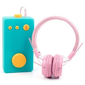 DURAGADGET Casque Rose Enfant Compatible avec Lunii, ma Fabrique à Histoires - Repliable + Microphone intégré (DISCOUNT ACCESSOIRES, neuf)