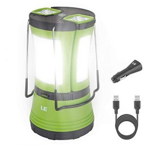 LE Lighting EVER Lampe Camping Rechargeable, Lanterne LED 600lm avec 2 Mini Lampe Torche Détachable, Lampe de Camping LED pour Camping, Bricolage, Travaux, Chasse, Tente, avec Câble USB (Home MART, neuf)
