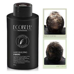 Ecobell maxi format 50 grammes CHATAIN CLAIR. Poudre de cheveux volumatrice calvitie (Pharmacie des 2 Cours, neuf)