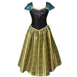 ELSA & ANNA® Filles Reine des Neiges Princesse Partie Costumée Déguisements Robe de Soirée FR-FBA-ANNA1 (4-5 Ans, FR-ANNA1) (UK1STCHOICE-ZONE, neuf)
