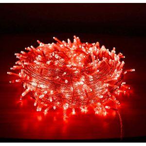 Guirlande de Noel Fée, 10M 80 LED Arbre de Noël Guirlande Lumineuse avec 2 Lumières de Noël Décoratives Mode USB (Rouge) (EONHUAYU, neuf)