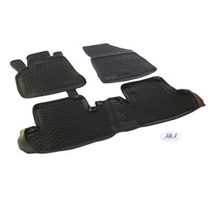 J&J AUTOMOTIVE | Tapis DE Sol en Caoutchouc 3D Exclusive Compatible avec Peugeot 3008 2009-2016 3pcs (J&J AUTOMOTIVE, neuf)
