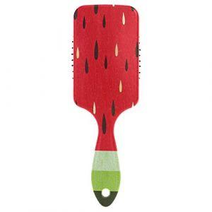 Peigne à cheveux en forme de jus de pastèque avec coussin d'air pour femme et homme (Use7, neuf)