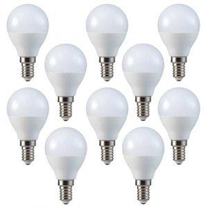 Pacco da 10 - ZONE LED SET - E14-5.5W - P45 - Ampoule LED - Blanc Chaud (3000K) - 470 Lm - équivalent ampoule incandescente 40W - SAMSUNG Chip`s - Angle d'éclairage 180° (ZONE LED, neuf)