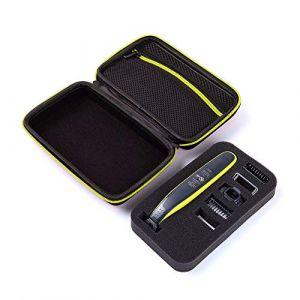 Étui pour rasoir électrique Philips Norelco OneBlade OneBlade QP2520 / 70/90 Housse de rangement pour sacoche de transport (housse de rangement de voyage (noir, fermeture à glissière neuve)) (GUANHE Direct, neuf)