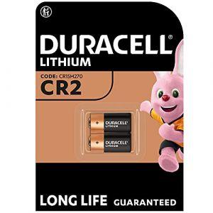 Pile lithium haute puissance Duracell CR2 3V, pack de 2 (CR15H270), conçue pour une utilisation dans les capteurs, verrous sans clé, flashs d'appareil photo et lampes de poche (Vitamed, neuf)