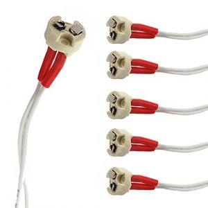 (6) Lampe MR16Douille, adaptateur connecteur New MR16GU5.3Lampe LED/halogène/CFL Céramique base femelle Douille (JOYINLED LTD., neuf)