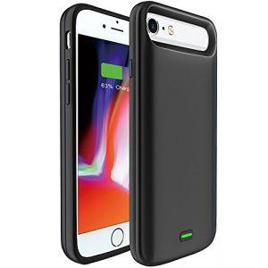 Bovon 5500mAh Coque Batterie iPhone 6/6S/7/8, Chargeur Portable Batterie Externe Rechargeable Puissante Power Bank Coque Chargeur de Protection pour iPhone 6/6S/7/8 [4.7 Pouces] (Noir) (Bovon En Direct, neuf)