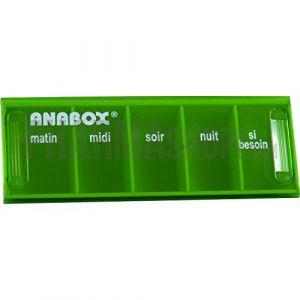 ANABOX - Pilulier Anabox journalier vert anis (BIVEA, neuf)