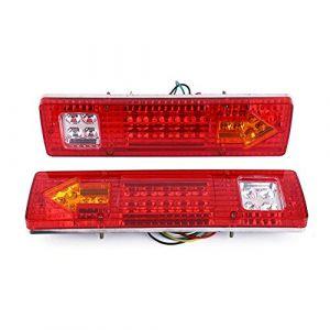 Lot de 2 feux arrières 19 LED pour feux arrière, feux stop, clignotants, clignotants de recul pour voiture, camion, remorque, fourgonnette, étanche 12 V (Lilinkk, neuf)