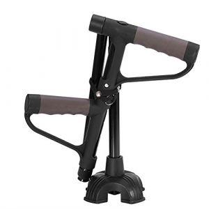 Bâton de marche, bâton de marche double escamotable antidérapant rétractable avec lumière LED pour vieillard (Antilog, neuf)