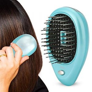 Duevin Electric Laser Massage Peigne mini brosse à cheveux peigne Massager Brush Perfect Hair Brush Traitements Massage vibrant Brush(vert) (Duevin89, neuf)