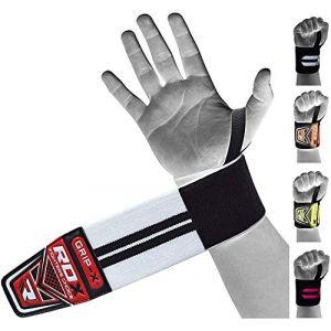 RDX Sangle Musculation Protège Poignet Soutien Bandage Support Entraînement Haltérophilie Wrist Wraps (RDXINC LTD, neuf)