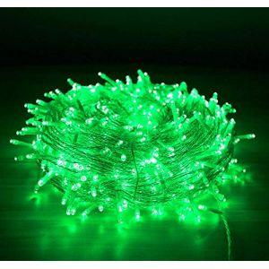 Guirlande de Noel Fée, 10M 80 LED Arbre de Noël Guirlande Lumineuse avec 2 Lumières de Noël Décoratives Mode USB (Vert) (EONHUAYU, neuf)