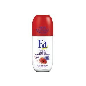 Fa Roll-on 50 ml Floral Protect Poppy&Bluebell (glass) (Zu Store, neuf)
