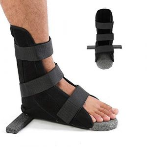 Attelle de pied, 3 tailles Fixation de jambe adulte Protecteur Support de sangle de cheville Confort doux Attelle dorsale nocturne Orthèse de pied Orthèse plantaire Attelle pour femmes et hommes(L) (runatyo, neuf)